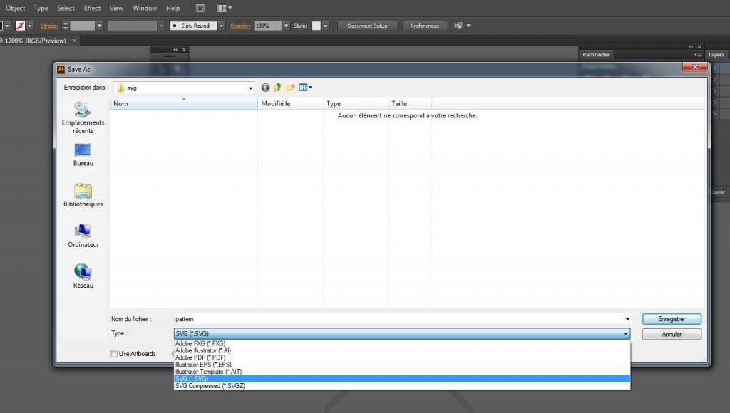 Comment préparer un motif sur Adobe Illustrator pour l'exporter en SVG