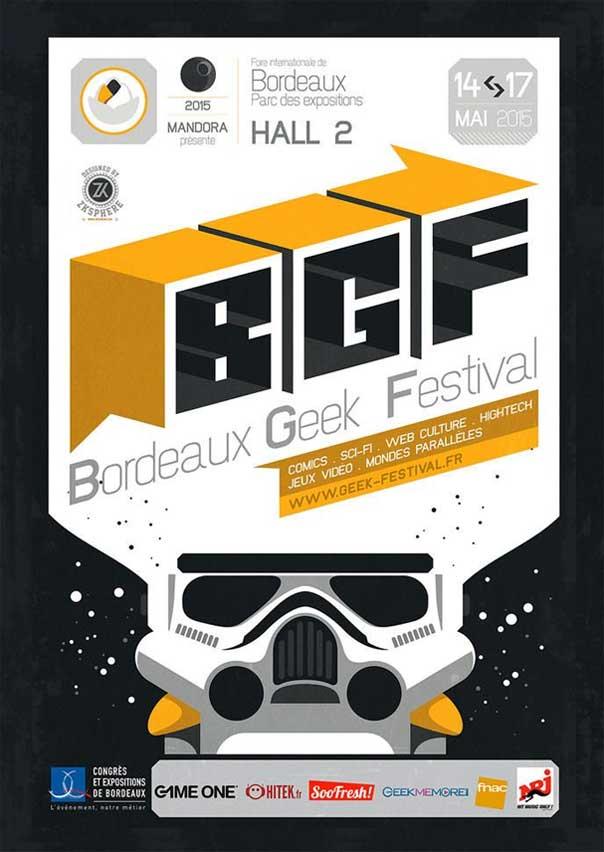 Affiche Bordeaux Geek Festival