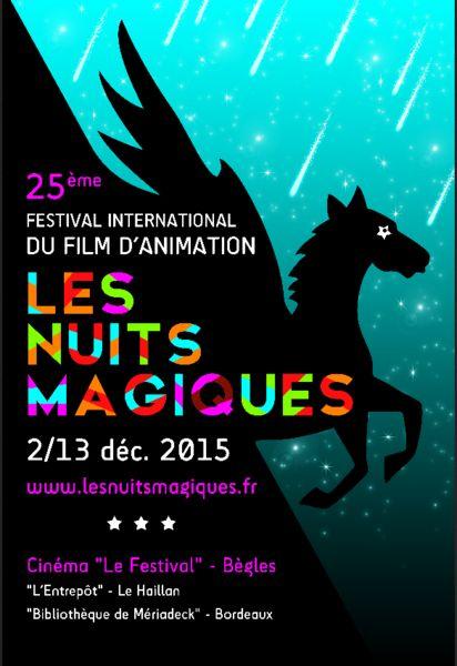 Affiche Festival International du Film d'Animation Les Nuits Magiques - Bègles 2015