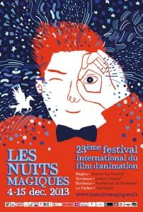 Affiche Festival International du Film d'Animation Les Nuits Magiques - Bègles 2013