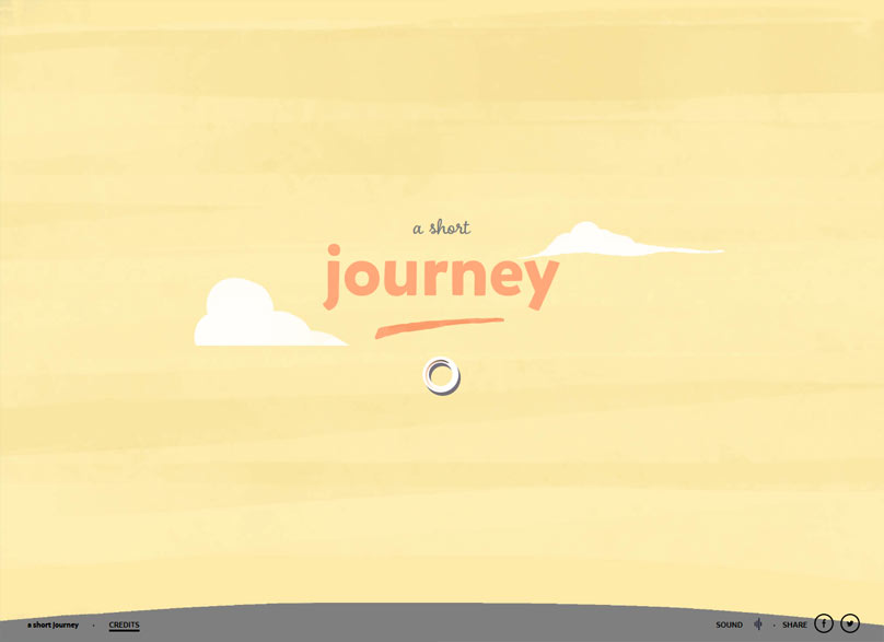 A Short Journey - Un webdesign réalisé par des créatifs français