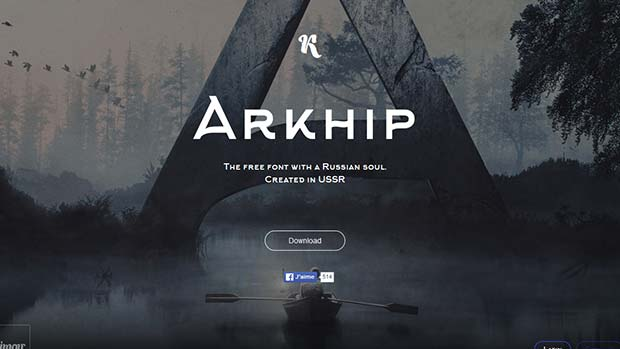 Arkhip - Typographie gratuite par Klimov Studio