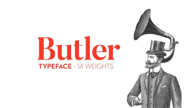 Butler - Typographie gratuite par Fabien De Smet