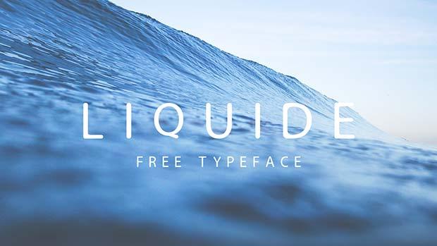 Liquide - Typographie gratuite par Philip Fisser