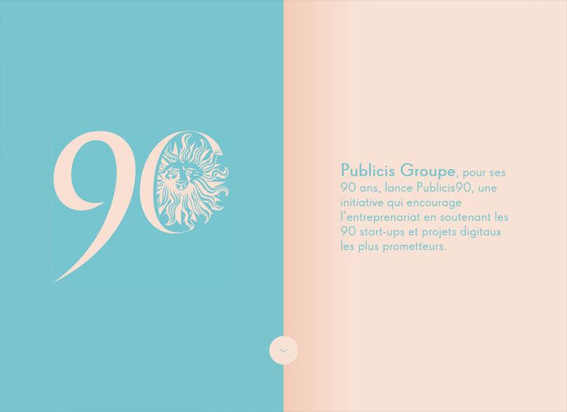 Publicis 90 - Un webdesign réalisé par des créatifs français
