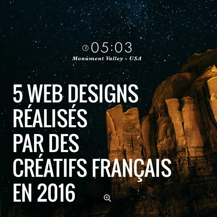 5 web designs réalisés par des créatifs français en 2016