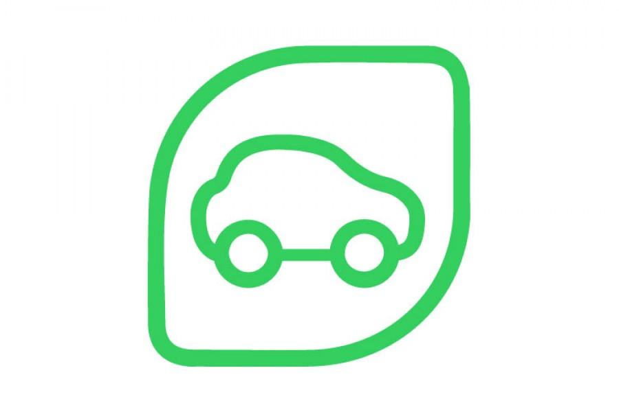 Logotype de lavage écologique de vehicule