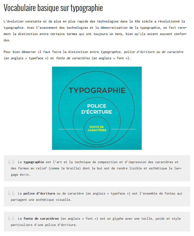Exemple de placement d'image dans un article WordPress