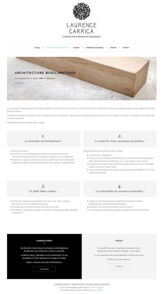 Section sur l'architecture écologique/bioclimatique