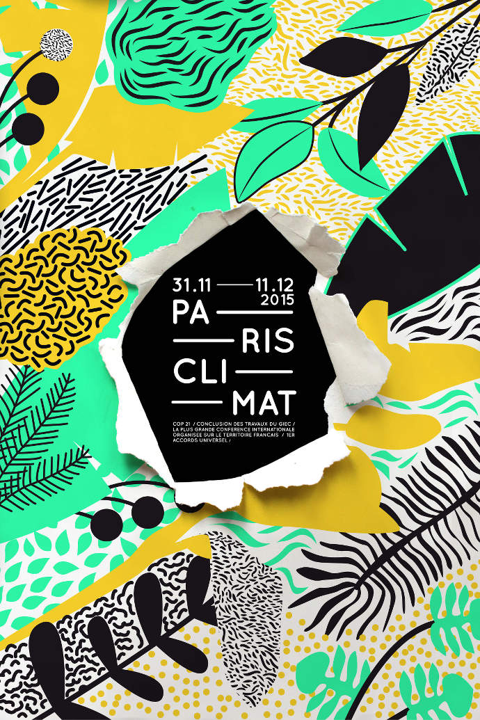 Illustrations pour votre inspiration au printemps - Affiche Paris Climat réalisée par In The Pool