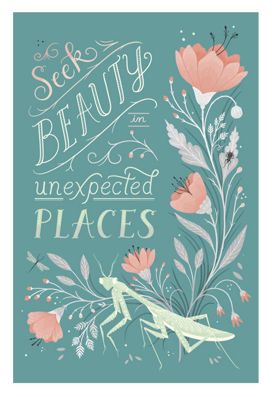 Illustrations pour votre inspiration au printemps - Illustration réalisée par Lisa Perrin.