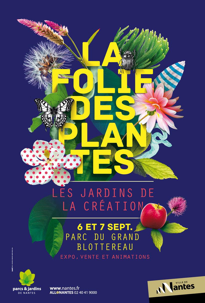 Illustrations pour votre inspiration au printemps -Affiche de l'événement La Folie des Plantes.