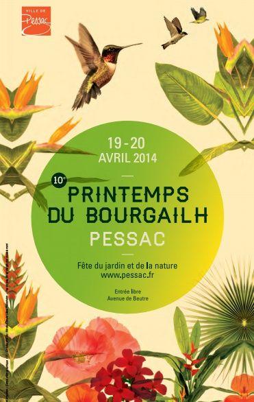 Illustrations pour votre inspiration au printemps - Affiche de l'événement Printemps du Bourgailh 2014.