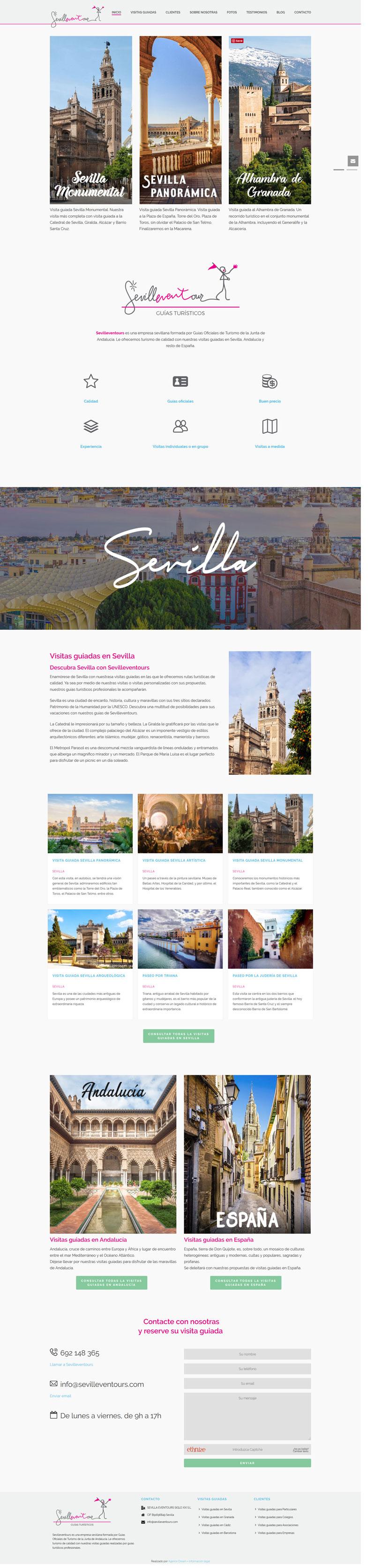 Web design de Sevilleventours