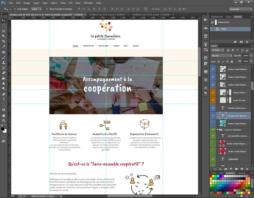 Une maquette de webdesign sur Photoshop (Work in progress!)