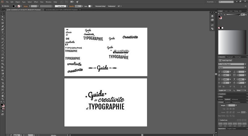 Workflow créatif - Typographie et Créativité