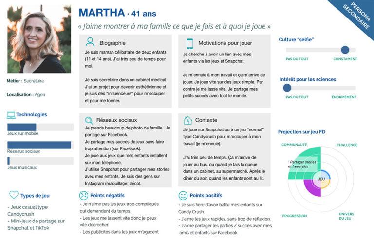 """Proto-persona secondaire """"Martha, 41 ans"""""""""""
